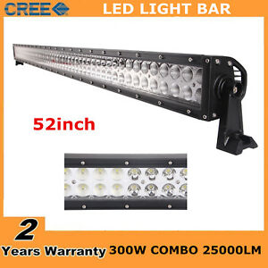 300w 52inch Cree Led Light Bar Combo Lamp Ford Offroad 4wd Fog Jeep Ute 48 51 53