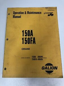 Komatsu Galion 150a 150fa Crane Operator Operation Maintenance Book Manual