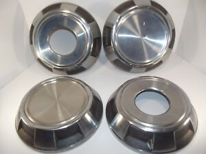 Vintage Dodge Oem W150 4x4 Pickup Truck Dog Dish Stainless Steel Hubcaps 4 Pcs