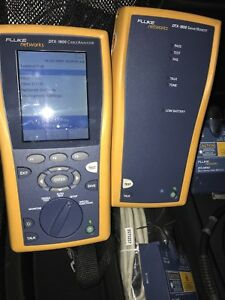 Fluke Dtx 1800 Cable Analyzer Tester With Mfm2 Fiber Modules