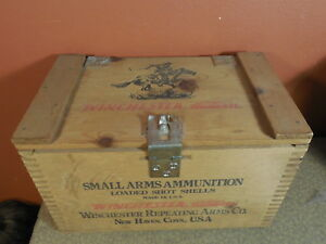Winchester Western Repeating Arms Ammunition Loaded Shot Shells Wooden Box