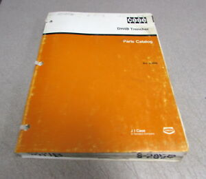 Case Dh4b Trencher Parts Catalog Manual 8 2850 1987