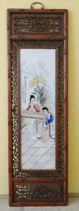 Large Chinese Famille Rose Porcelain Panel M3105