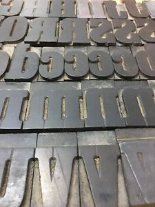 133 Pcs 60mm Hamilton Serif Wood Type Alphabet Letterpress Print Block 25