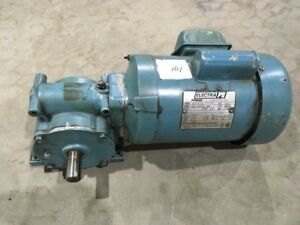 Electragear 1 4 Hp Single Phase Motor With 40 To 1 Right Angle Gear Reducer