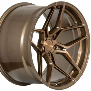 19 20 Rohana Rfx11 19x9 5 20x12 Bronze Concave Wheels Chevy Corvette Forged