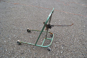 Vtg Temple Automotive Truck Tool Rolling Floor Jack Car Truck Mechanic Tire