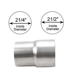 2 25 Id To 2 5 Id Exhaust Pipe To Pipe Adapter Reducer Stainless Steel T 201