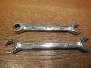 2 Sk Tool Flare Nut Sae Wrenches 1 2 X 9 16 5 8 X 11 16