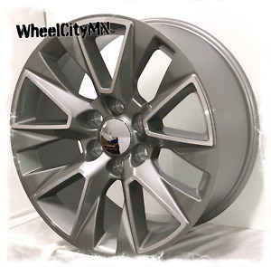 20 Inch Silver Machine 2019 Chevy Silverado 1500 Ltz Oe Replica Wheels 6x5 5 28