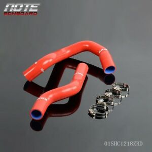 Fit For 68 79 Ford F100 f150 f250 Bronco Silicone Radiator Hose Free Clamps