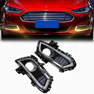Us Drl Fog Lamp Fits Ford Fusion Mondeo 13 16 Led Daytime Running Light Durable