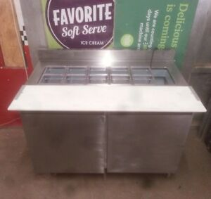 Delfield 4048 12 Refrigerated 2 door Prep Table