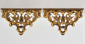 Pair Of Vintage Gilt Wall Brackets Great Looking 8 Long