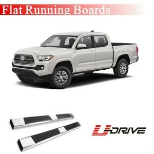 5 Black Oval Running Boards Side Steps For 2005 2019 Toyota Tacoma Double Cab