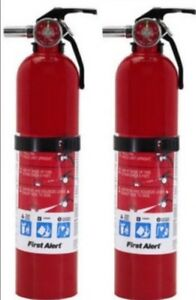 2 5lb Fire Extinguisher Abc Dry Chemical First Alert 1a10bc Two Pack