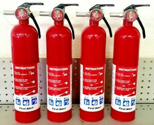 2 5lb Fire Extinguisher Abc Dry Chemical First Alert 1a10bc Four Pack