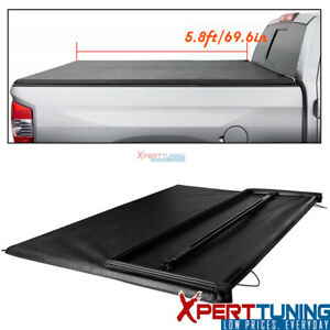 Fits 04 07 Chevy Silverado Gmc Sierra 5 8ft 68in Bed Tri fold Soft Tonneau Cover