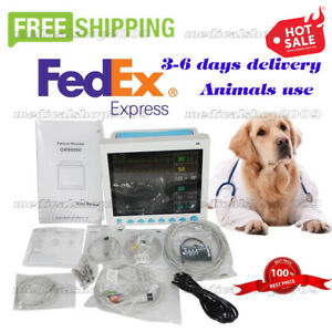 Us Seller Vet Veterinary Patient Monitor Ecg nibp spo2 resp temp pr Cms8000