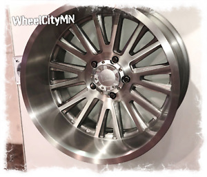 22 X12 Brushed Vrock Vr11 Anvil Rims 2018 2011 Chevy Silverado 2500 3500 8x180
