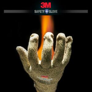 5 Pairs 3m Safety Aramid Heat Protective Gloves Resistant Thermal Heat Fire