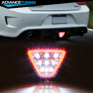Fits Most Vehicles Triangle Red Led Rear Tail 3rd Brake Lights Stop Safety Lamp