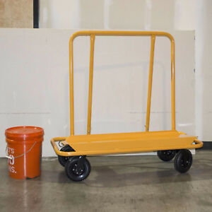 Drywall Cart 3000 Lbs Capacity 2 Swivel Casters Rolling Transport Large Platform