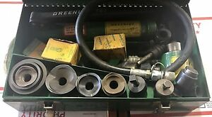 Greenlee No 7306 Knockout Punch Set W Hydraulic Hand Pump 767
