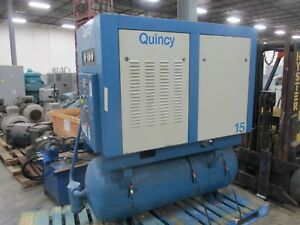 Quincy Compressor Quincy 15 15hp 200psig 480v 19a 3ph 60hz Used
