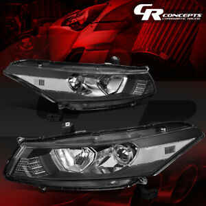 Pair Projector Headlight Lamp For 08 12 Honda Accord 2 door Coupe Black clear