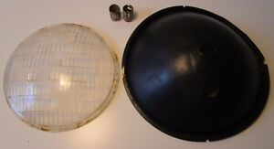 Vintage 1934 Ford Car Twolite Headlight Reflector Glass Lens