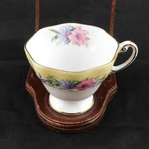 Vintage Eb Foley Cornflower Yellow Tea Cup Bone China England Flower