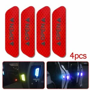 4x Safety Reflective Tape Open Sign Warning Mark Car Door Stickers Accessory