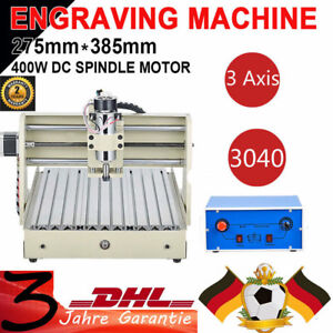 3 Axis 3040 Cnc Router Engraver Milling Drilling Machine Engraving software 400w