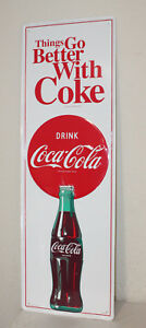Large 54 Coca Cola Vintage Style Embossed Signs Man Cave Bottle Usa