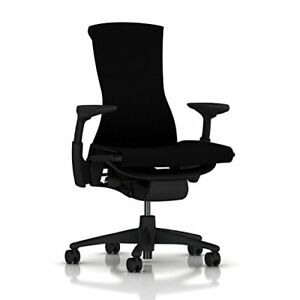 Herman Miller Embody Chair Graphite Frame black Rhythm Textile