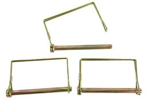 3 Pc Lot 5 16 Long Trailer Coupler Safety Snap Locking Pin Square Towing Hitch