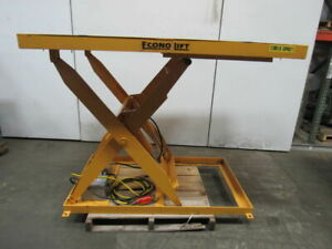 Econo Lift 3sl42 2000lb Hydraulic Scissor Lift Table 66 x48 Top 8 To 52 Ht