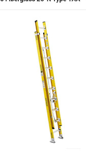 New 20 foot Werner Extension Ladder Safety Yellow Fiberglass pick Up Only