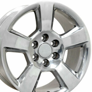 20 Rim Fits Chevy Tahoe Yukon Escalade Cv76 Polished 5652 20x9 Wheel