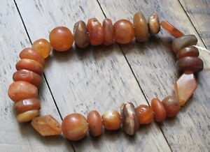 Very Old Tibetan Himalayan Agate Beads From Tibet Rare Collector Beads Sale