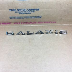67 Galaxie Nos Oem Ford C7az 5429210 abcdef Quarter Panel Letters