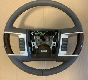 New Oem 08 10 Lincoln Mkx Steering Wheel Lt Camel W Wood Trim 9a1z3600hb