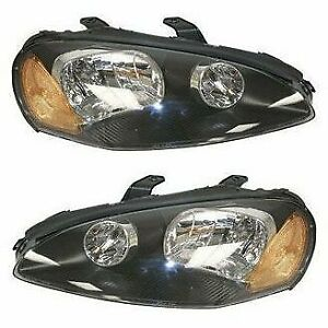 Halogen Headlight Set For 2003 2005 Dodge Stratus Coupe Left Right W Bulb Pair