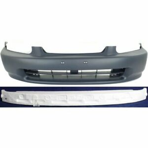 Front Bumper Cover Kit For 1996 98 Honda Civic W Bumper Absorber Primed Plastic