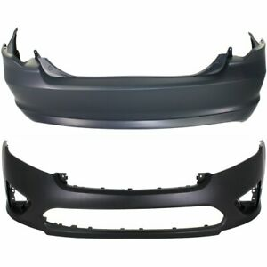 Front Rear Bumper Cover Set For 2010 2012 Ford Fusion Primed Plastic 2 Pcs
