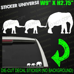 Mom Baby Elephants Family Cute Car Window Decal Bumper Sticker Elephant 0729