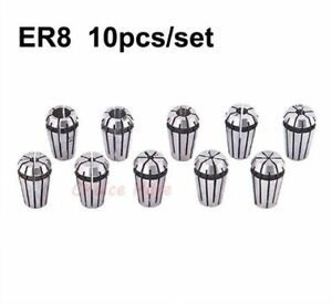 10pcs Er8 Collet Spring Chuck For Cnc Spindle Motor