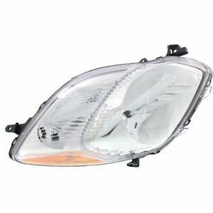 Headlight For 2009 2011 Toyota Yaris Right Clear Lens Halogen Hatchback Capa