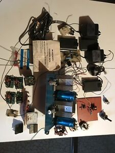 Miscellaneous Assortment Of Electronic Components And Homemade Projects
